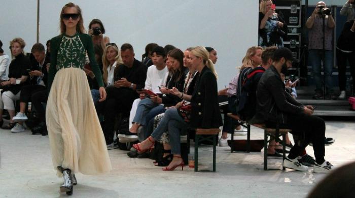 ganni ss17 embellished dress