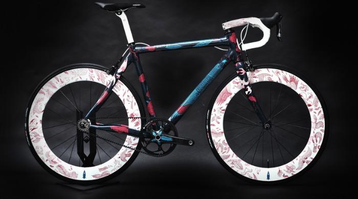 illustrated zero carbon bike