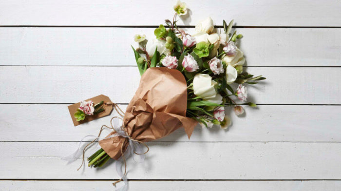 DIY Flower Gift Wrap