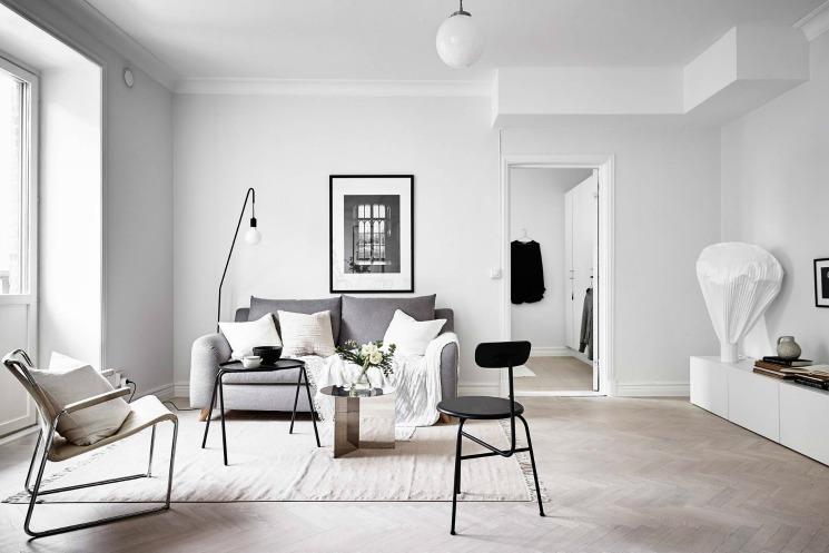 living room swedish apartment