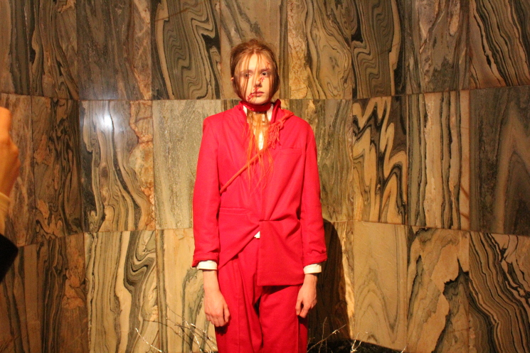 phoebe english aw17 red suit