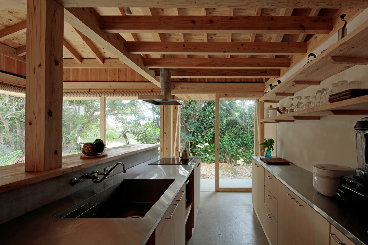 okinawa villa kitchen