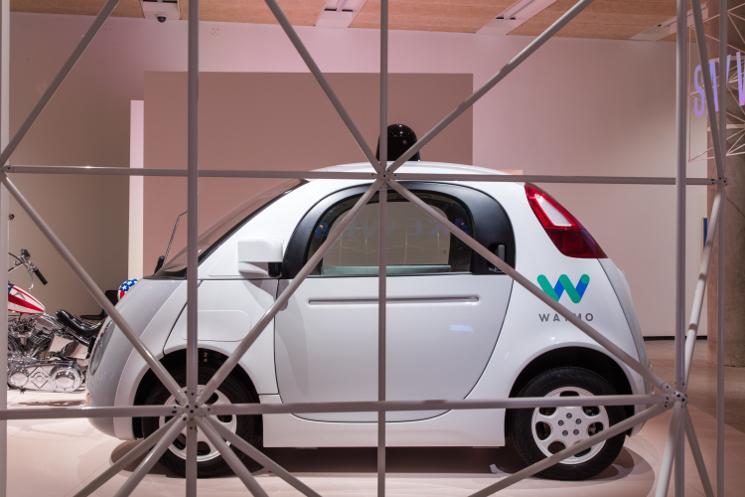 waymo car california exhibition