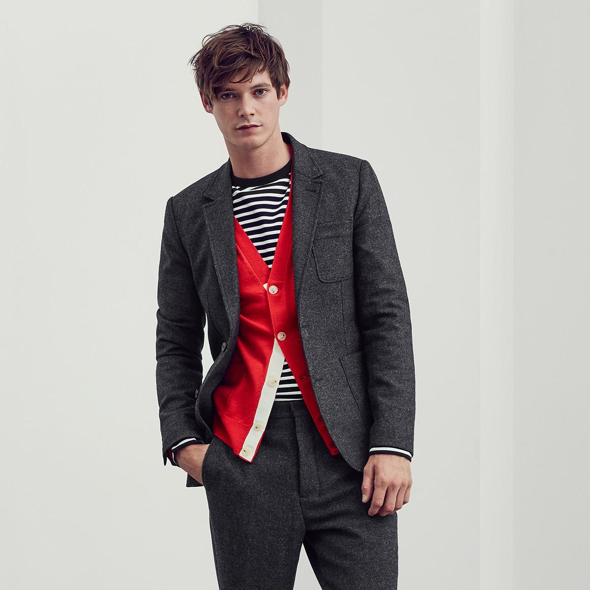 Men's Grey AMI suit