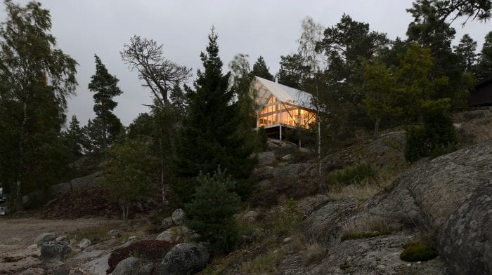 A Wooden Cabin in the Stockholm Archipelago