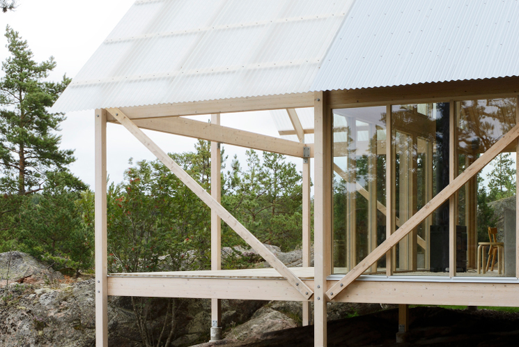 stockholm cabin outdoor terrace