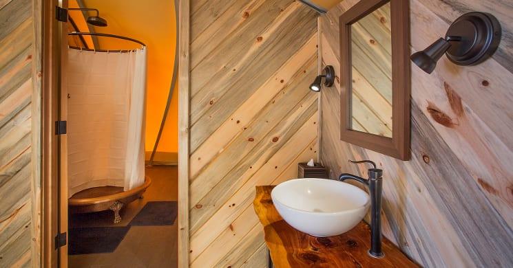 autonomous tent bathroom