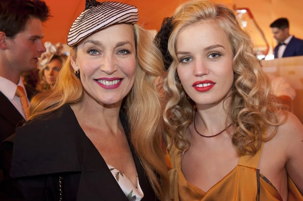 Georgia Jagger and Jerry Hall