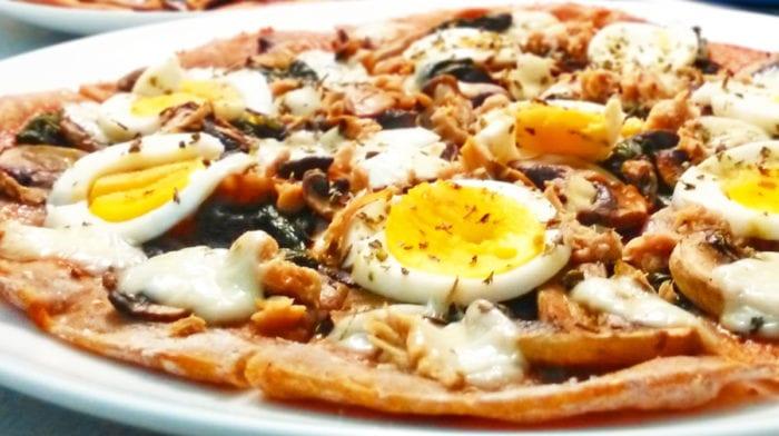 Recept: Tuňáková fitness pizza