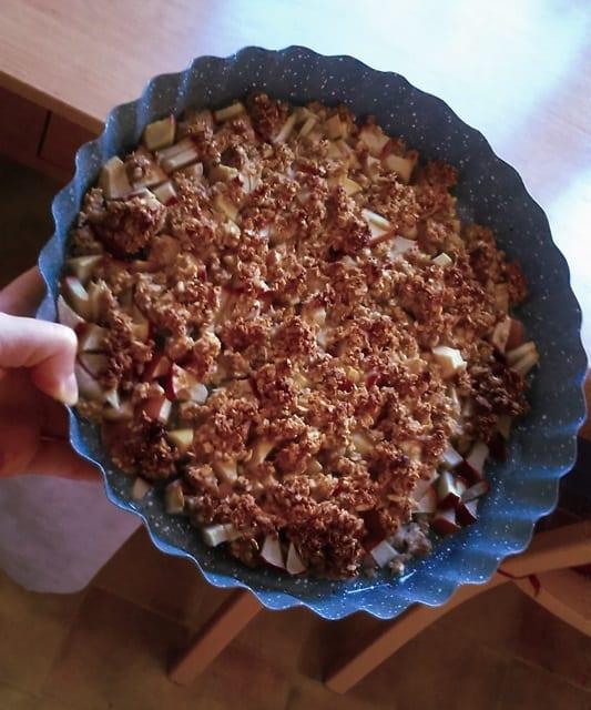 Recept: Švestkový crumble