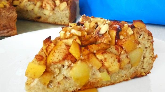 Recept: Ovesný jablkový koláč