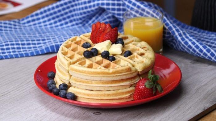 Proteinové wafle s vanilkovým tvarohovým krémem